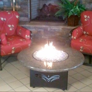 Fun Outdoor Living construction and installation of a fire table
