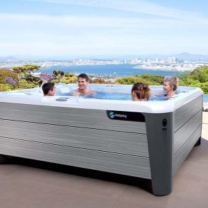 hot tub overlooking the bay
