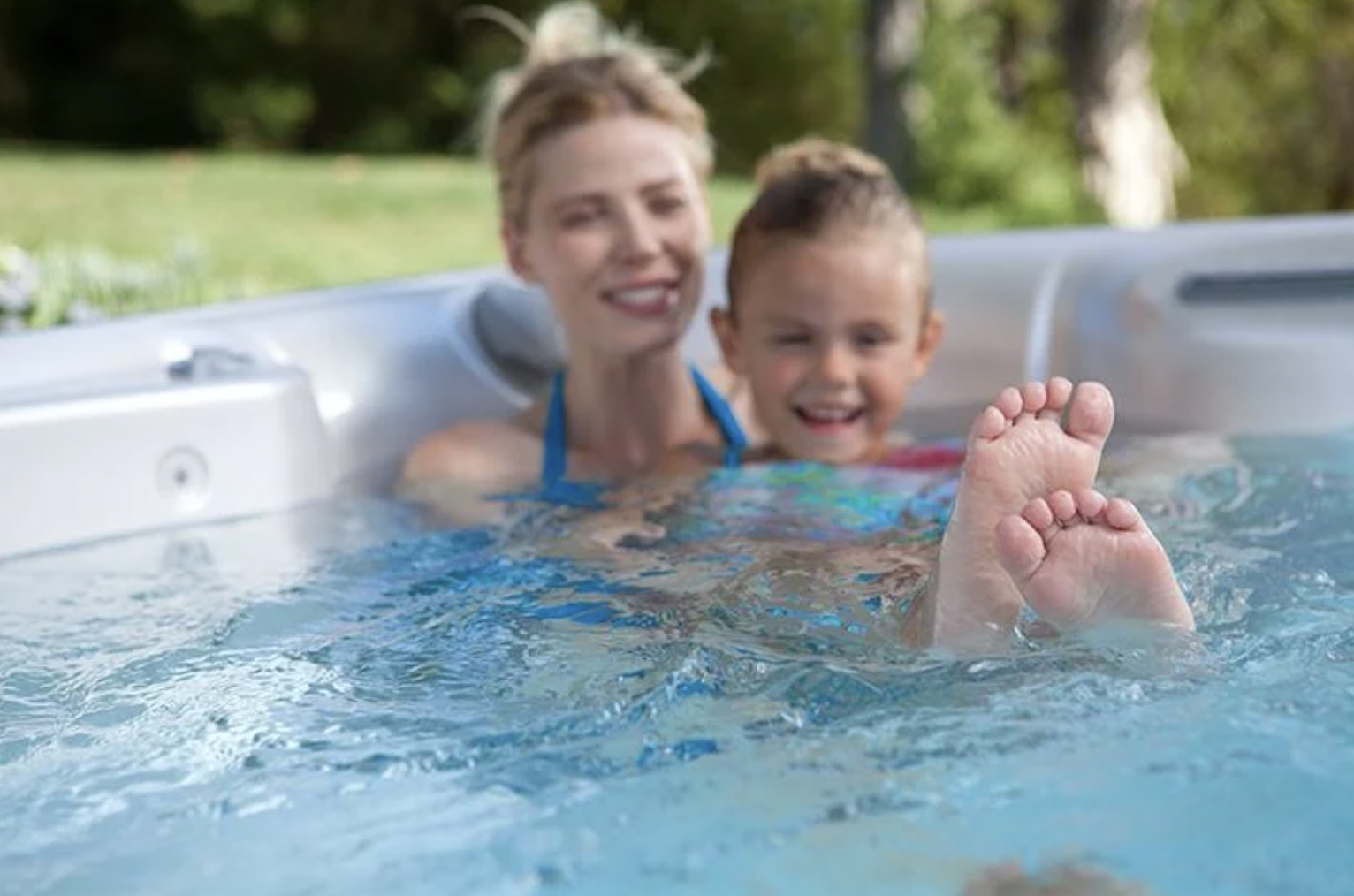 family safe hot tub water