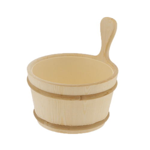 Wood bucket with Plastic Liner - 1 gallon