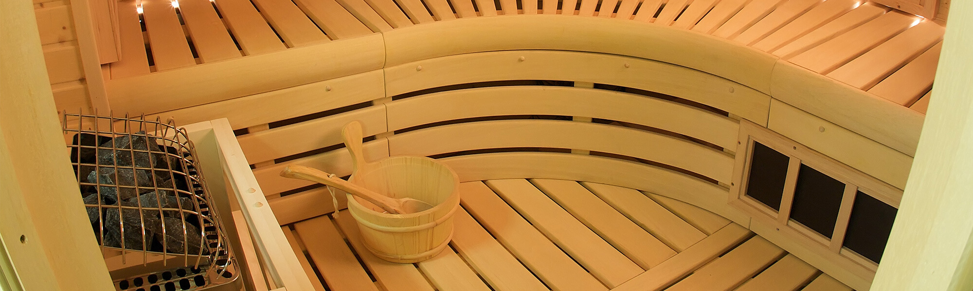 Help relieve tensions headaches with a sauna