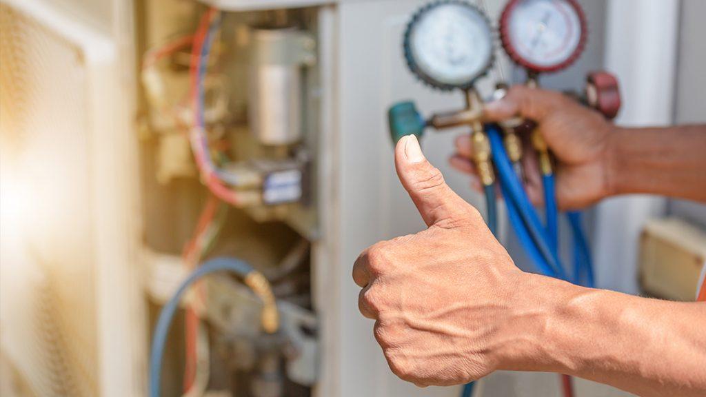 Showing proper maintenance for your AC unit