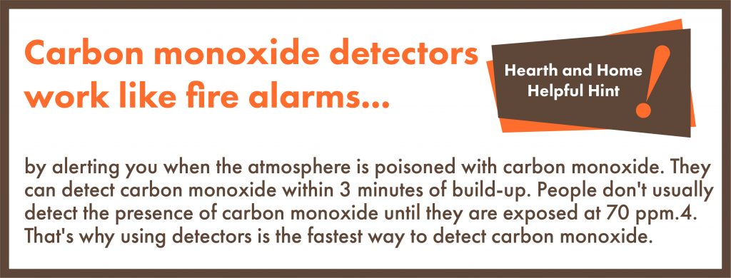 Carbon Monoxide Detectors work like fire alarms by alerting you when the atmosphere is poisoned with carbon monoxide. They can detect carbon monoxide within 3 minutes of build-up. People don't usually detect the presence of carbon monoxide until they are exposed at 70 ppm.4. That's why using detectors is the fastest way to detect carbon monoxide.