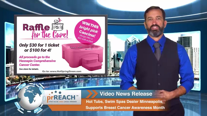 Hot Tubs, Swim Spas Dealer Minneapolis, Supports Breast Cancer Awareness Month