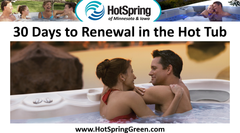 30 Days to Renewal in a Portable Spa – Hot Tubs Sale Plymouth