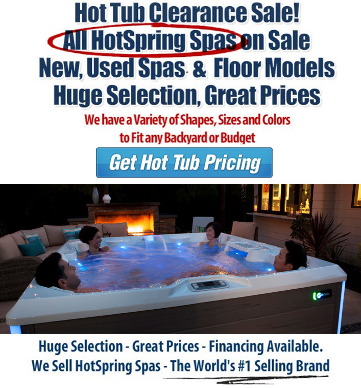 Hot Tub Clearance Sale / Hot Spring Spas - Hot Tubs, Swim Spas ...