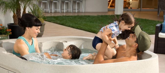 Fantasy Spas Brochure Family Image