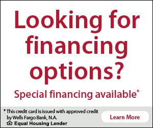 Wells Fargo financing at the Hot tub Company