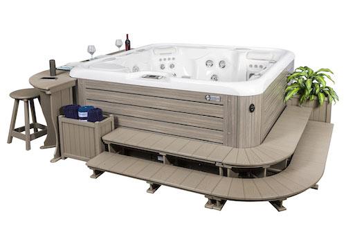 Hot Tub Surrounds Family Image