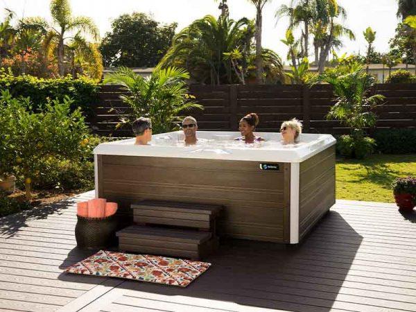 Friends in a Hot Spring hot tub