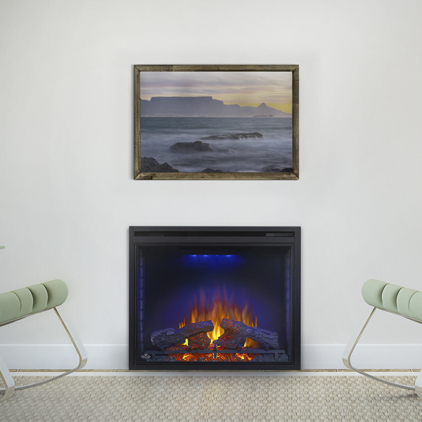 Ascent 33 electric fireplace blue