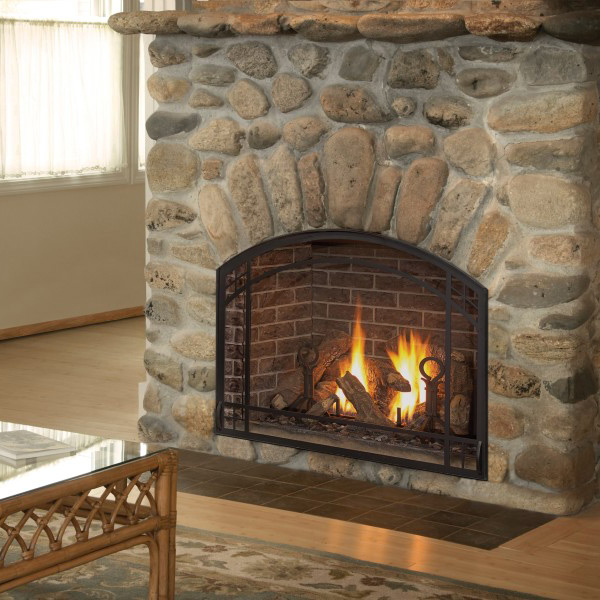 alpha 36 arched finishing frame gas fireplace