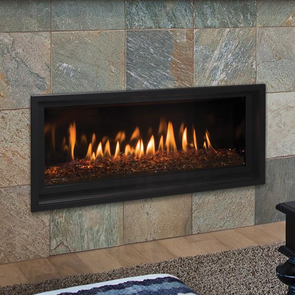 Slayton 36 Fireplace Crushed Glass