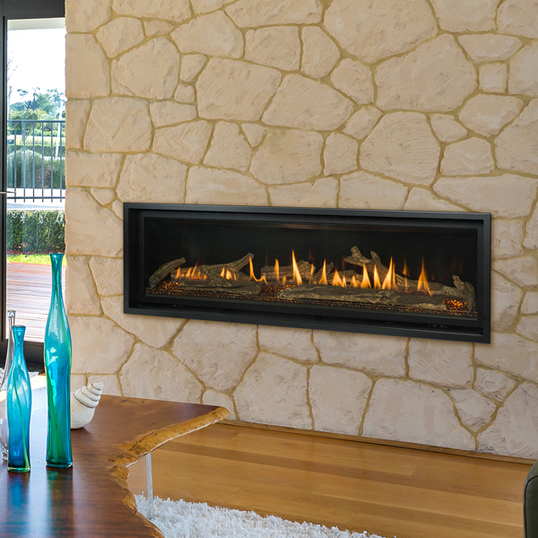 Slayton 60 Traditional Log Gas Fireplace