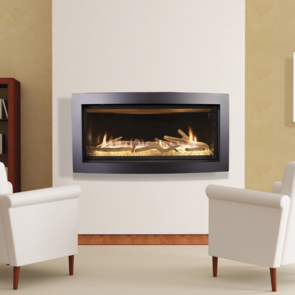 Slayton 42S - driftwood log - gas fireplace