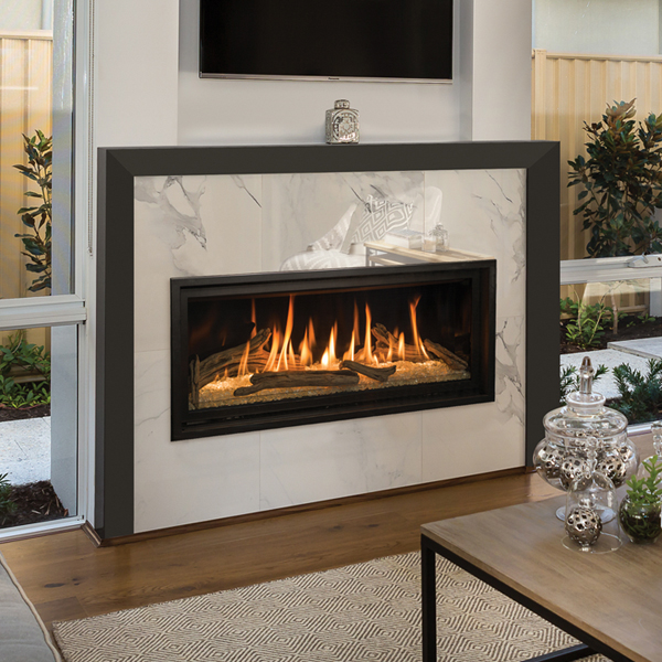 Slayton 42S - traditional log - gas fireplace