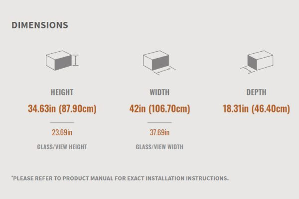 Napoleon Ascent 42 Gas Fireplace Dimensions