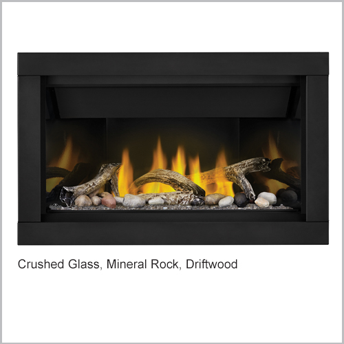 Ascent Gas Fireplace Crushed Glass Rock Driftwood