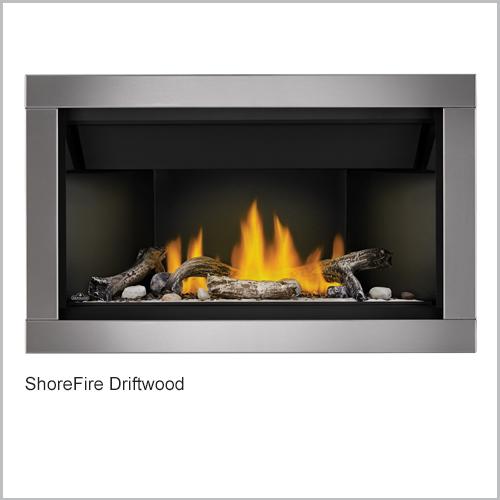 Ascent Gas Fireplace ShoreFire Driftwood