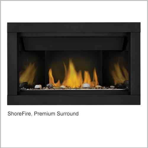 Ascent Gas Fireplace ShoreFire Surround