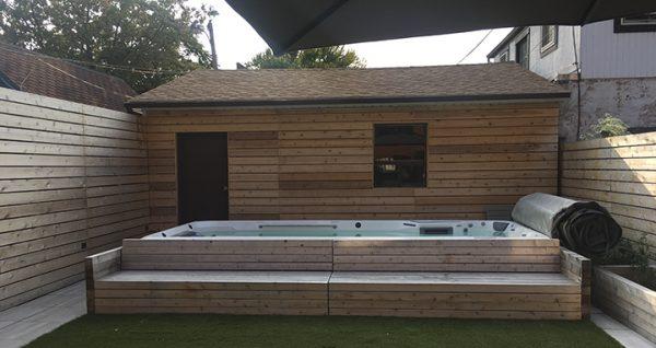 used Endless Pool E700 swim spa