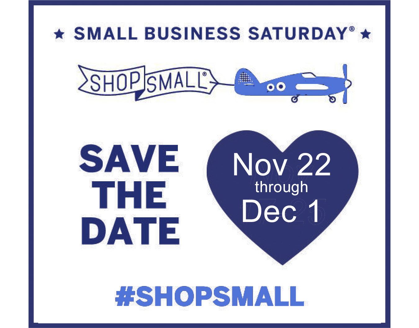 Save the Date Small Business Saturday doorbuster hot tub sale