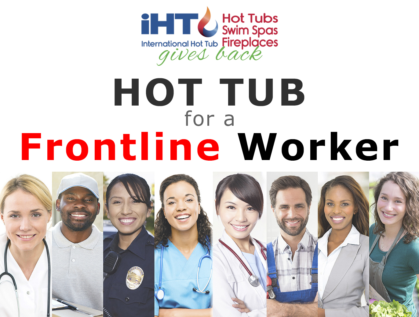 Hot tub giveaway to Frontline Workders