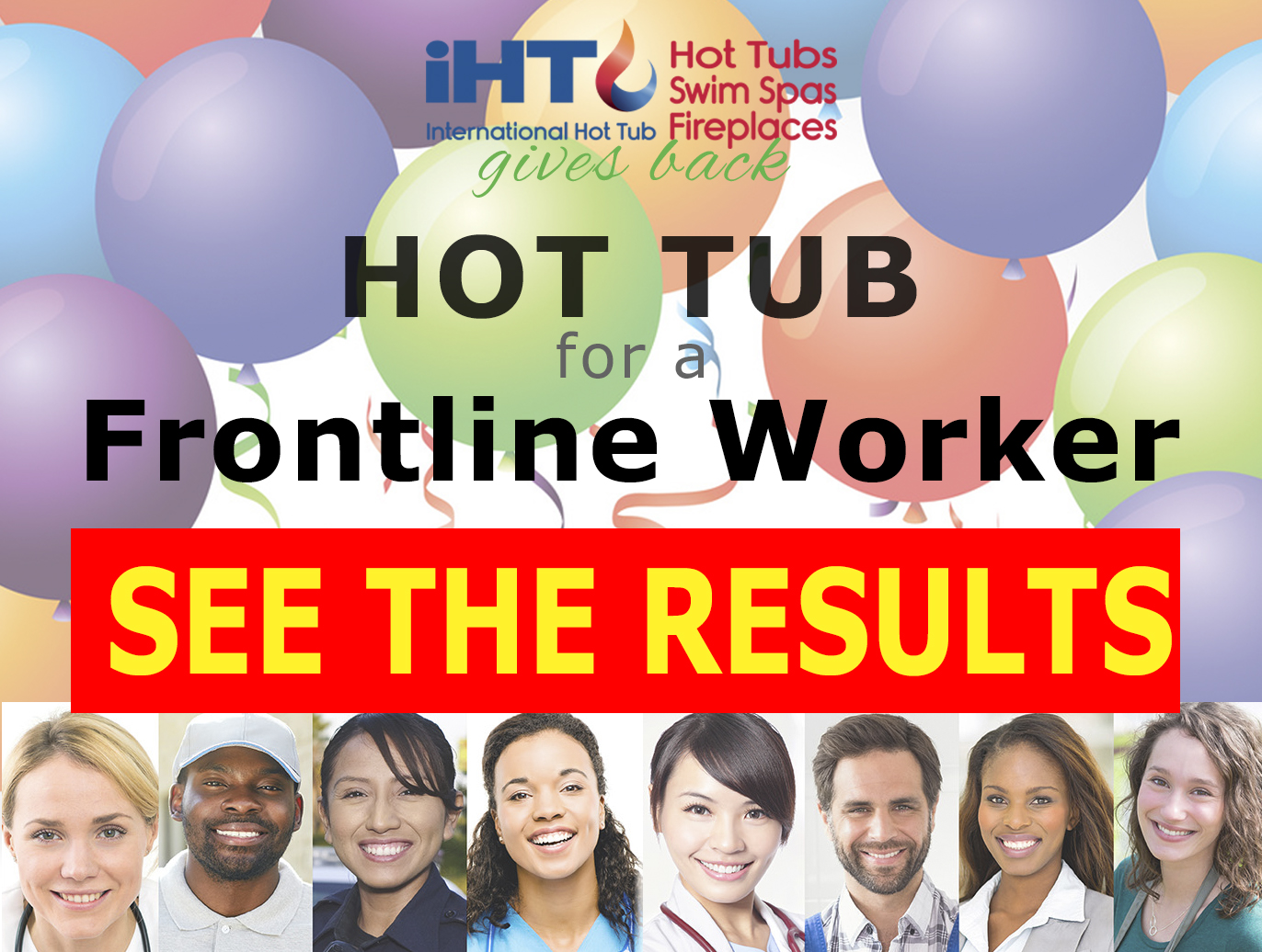 Hot tub giveaway to Frontline Workders results