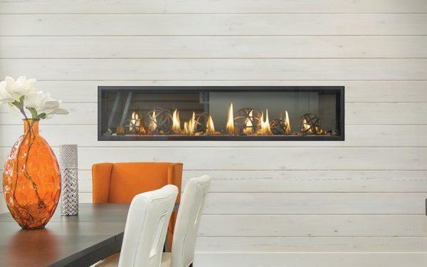 Luxuria 74 Napoleon Linear See Through Gas Fireplace