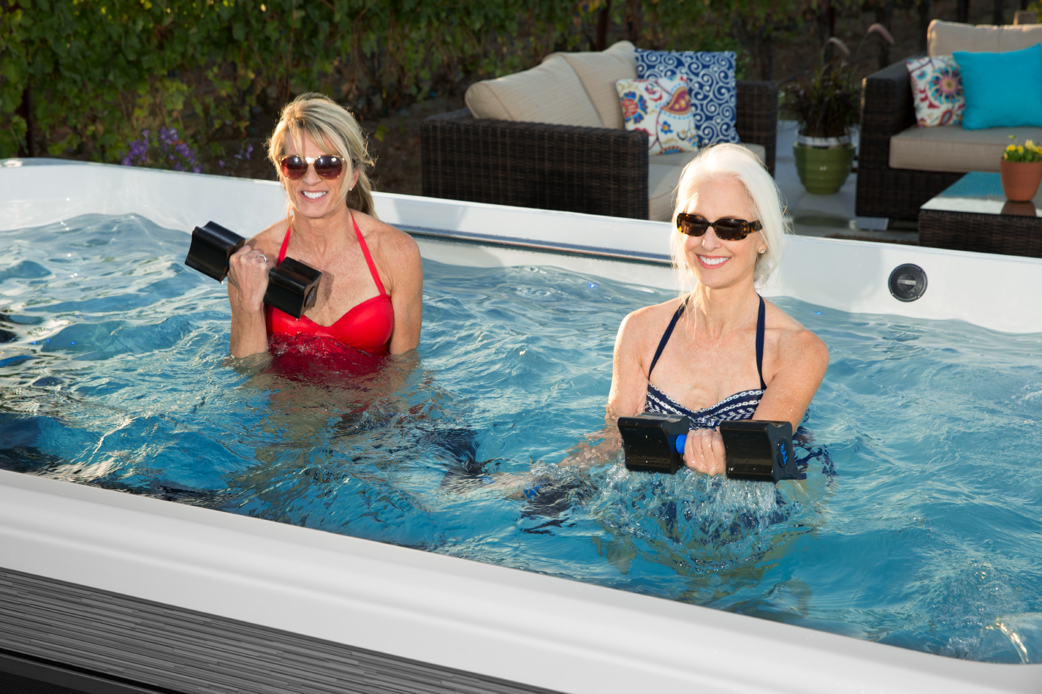 Ladies' Night at Home in a Swim Spa