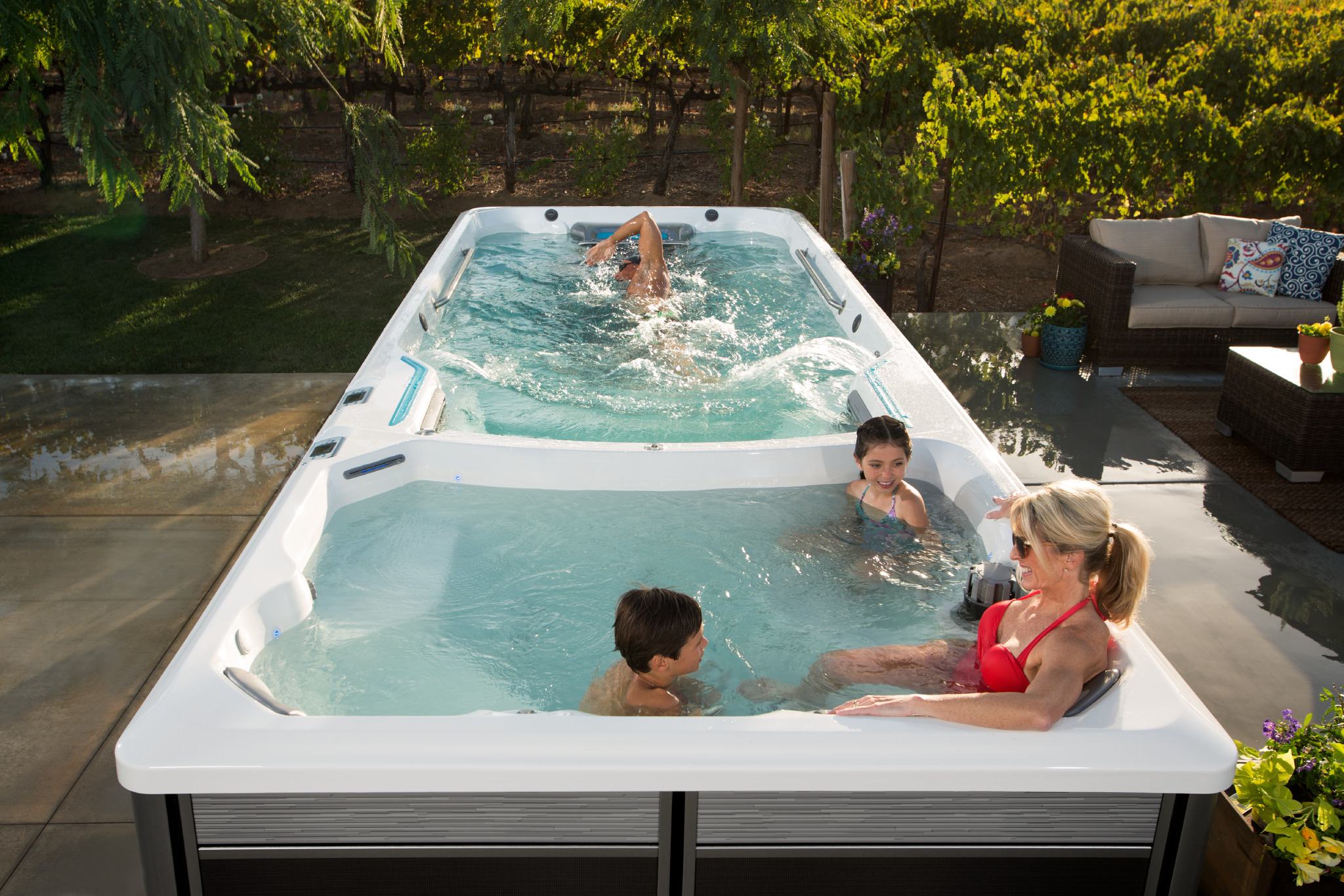 An Endless Pools® Swim Spa is Perfect for the Whole Family