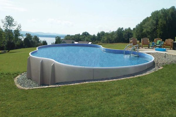 Radiant Semi Inground Freeform Pool
