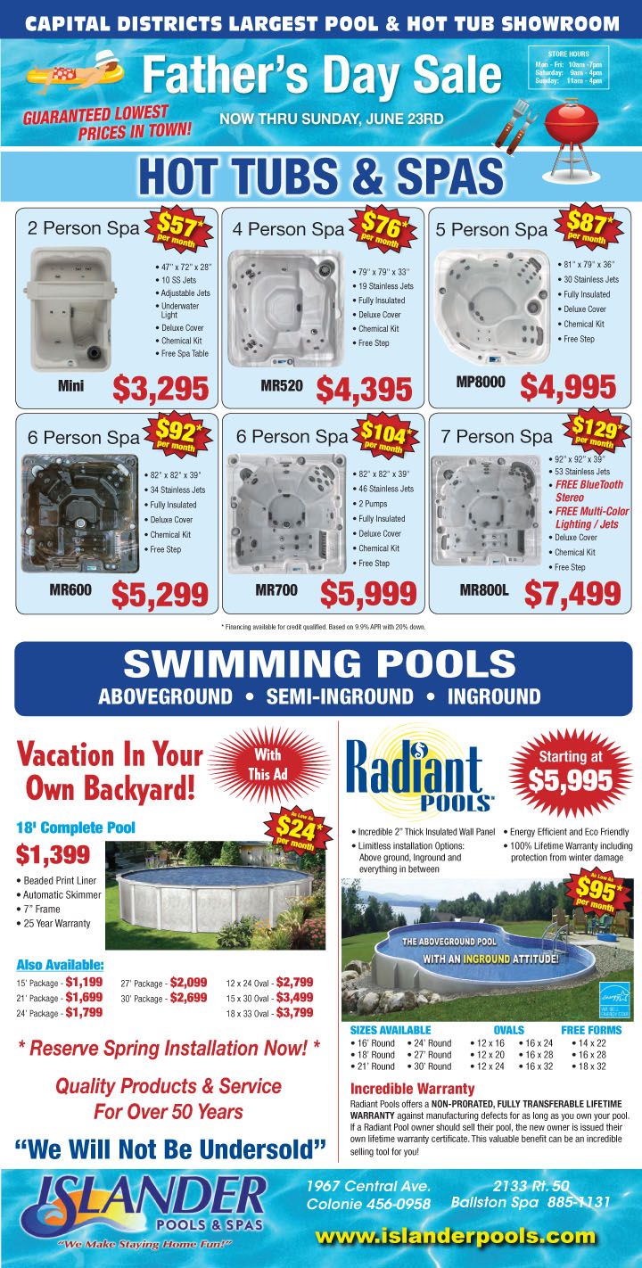 Father's Day Hot Tub Sale