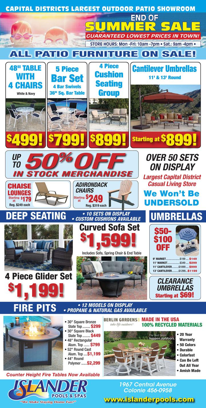 End of Summer Furniture Sale
