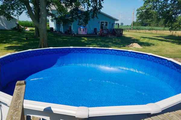 Opening Your Above Ground Pool Family Image