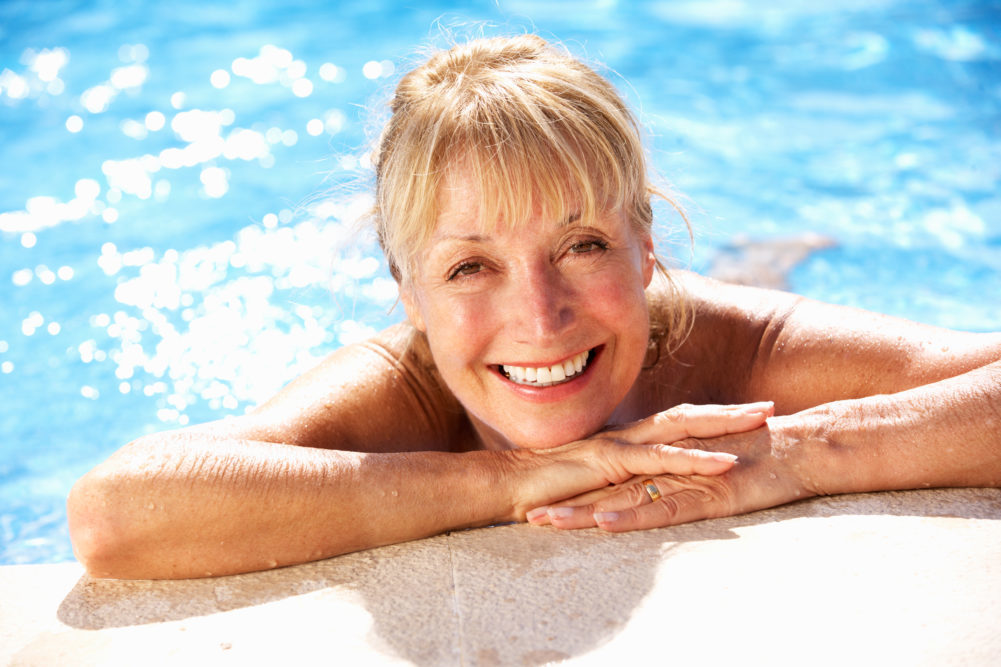 Water Exercise for Seniors in a Swim Spa