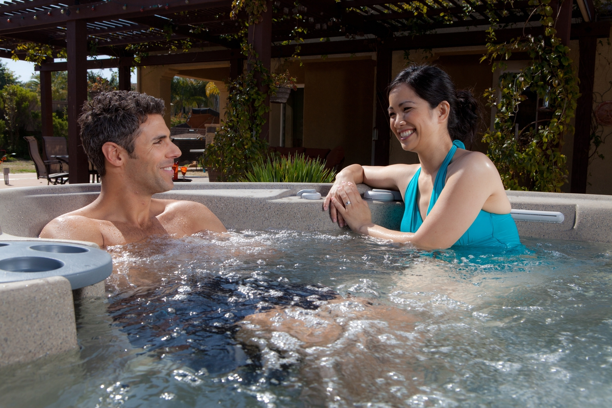 A hot tub lets you spend more time enjoying the important things