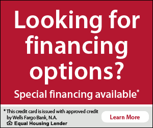 Financing provided by Wells Fargo Bank, N.A. with approved credit. Equal Housing Lender. Learn more.
