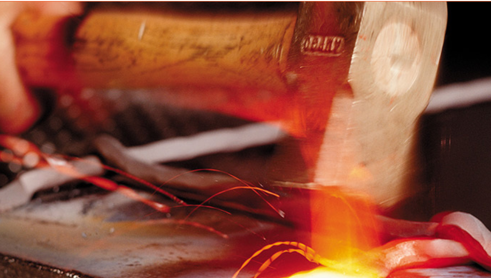 Custom Shop Faces being forged
