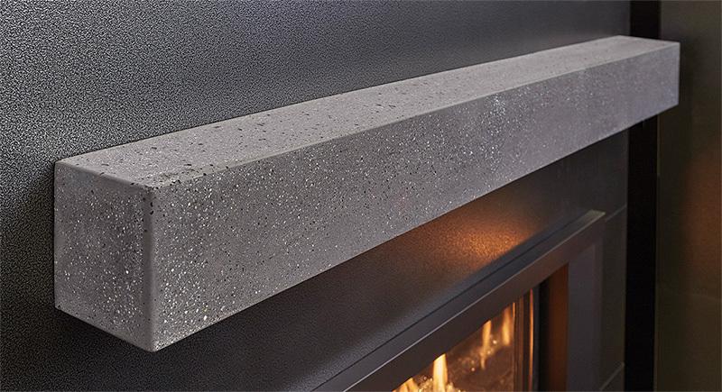 Polished Gray Concrete Custom Shop Mantels product image
