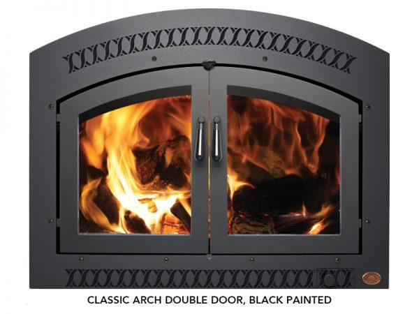 Fireplace X | 36 Elite Wood Classic Arch Double Door