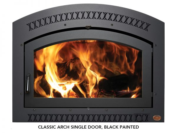 Fireplace X | 36 Elite Wood Classic Arch Black