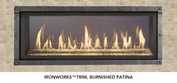Fireplace X | 4415 See-Thru Burnished Patina