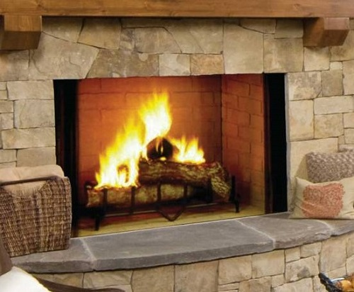 Decorative Wood Fireplaces Family Image