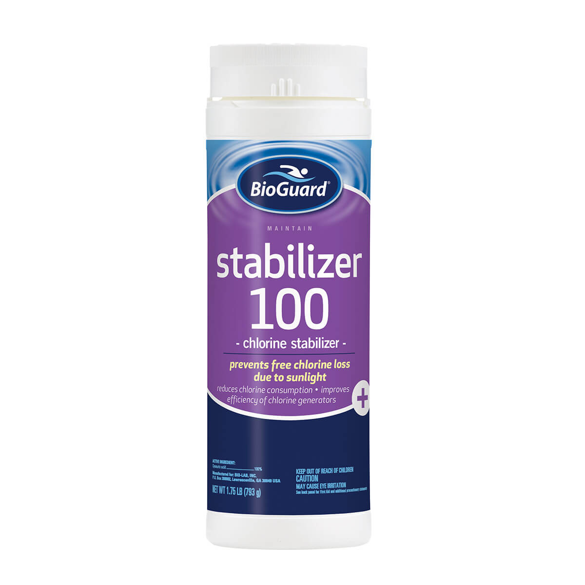Stabilizer 100 oakwood pool and spa for Swimming pool stabilizer too high