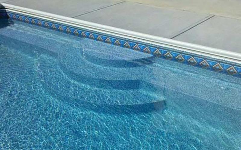 Latham Pool Steps Family Image