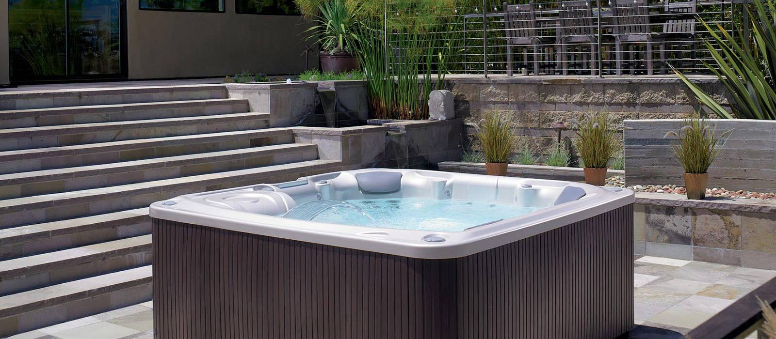 Caring for the Flair hot tub is easy with the optional ACE® saltwater system and EverFresh® water care system. Both systems continuously clean the hot tub with innovative technology.