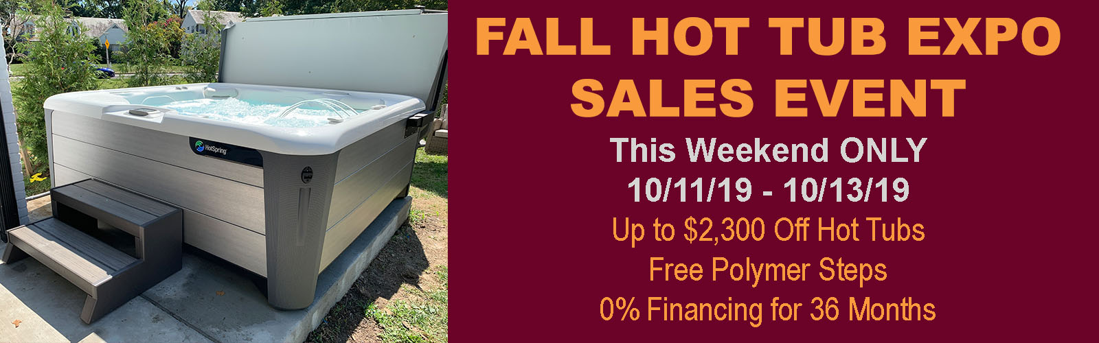 Fall Hot Tub Expo Sales Event
