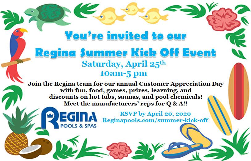 Summer Kick Off Event at Regina Pools and spas timpanum MD