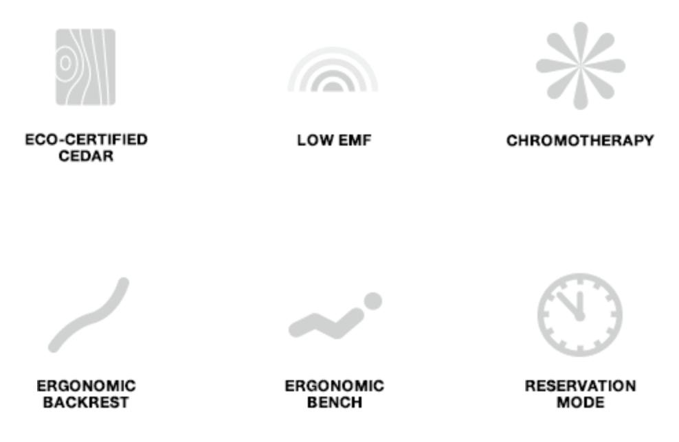 Jacuzzi Sauna infographic of features